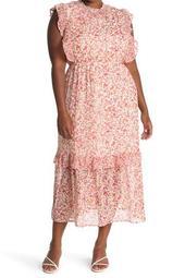 Sleeveless Smocked Neck Tiered Maxi Dress (Plus Size)