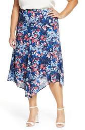 X International Women's Day Fancy Ashley Asymmetrical Flowy Midi Skirt