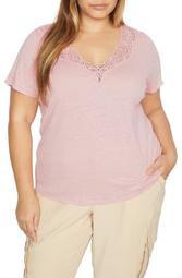 Virginie Lace Linen T-Shirt
