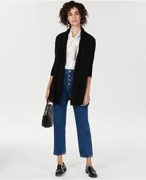 Rolled-Edge Pure Cashmere Cardigan, Created for Macy's