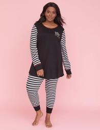 Henley Top & Legging PJ Set