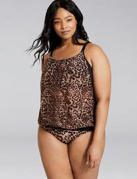 Mesh Blouson No-Wire Swim Tankini Top