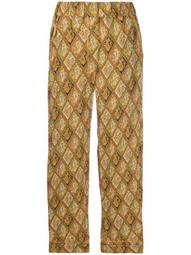 cropped paisley print trousers