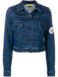 logo patch cropped jacket