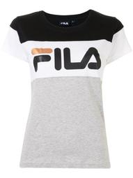 cap sleeve logo print T-shirt