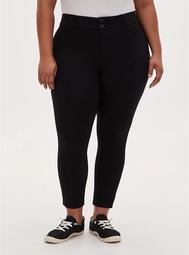 Studio Signature Stretch Black Premium Ponte Ankle Skinny Pant