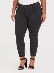 Studio Signature Stretch Charcoal Grey Premium Ponte Ankle Skinny Pant