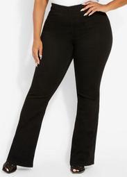 Black High Waist Flare Jean