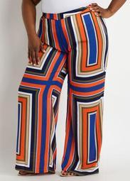 Stripe High Waist Wide Leg Pant
