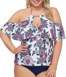 Plus Size Shea Halter Tankini Swim Top