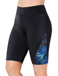 Swimsuits For All Women's Plus Size Chlorine Resistant Lycra Xtra Life Printed Swim Bike Short