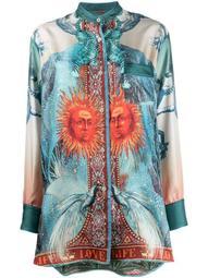 Luna silk printed blouse