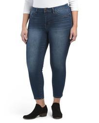 Plus High Waist Ankle Jeans