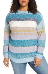 Ombre Stripe Pullover (Plus Size)