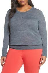 Crewneck Merino Wool Blend Sweater