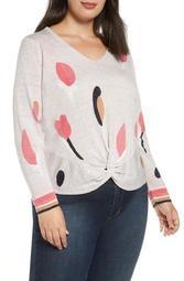 Rose Garden Twist Linen Blend Sweater