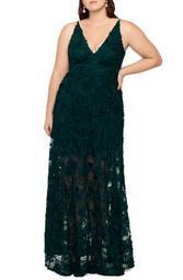 3D Lace A-Line Gown (Plus Size)