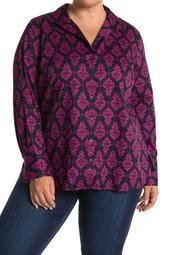 Annie Damask Shirt (Plus Size)