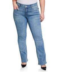 Plus Size Tummyless Boot-Cut Jeans