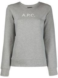 logo-print crew neck sweatshirt
