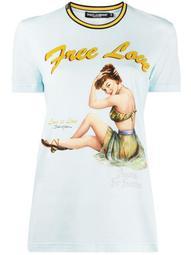 Free Love print T-shirt
