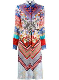 floral-print midi shirt dress