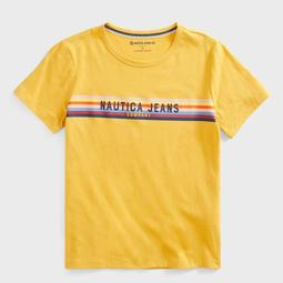 NAUTICA JEANS CO. SUSTAINABLY CRAFTED LOGO STRIPE T-SHIRT