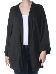 CALVIN KLEIN Womens Gray Sweater Plus  Size: 3X