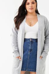 Plus Size Marled Cardigan