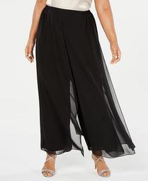 Plus Size Flowy Wide-Leg Pants