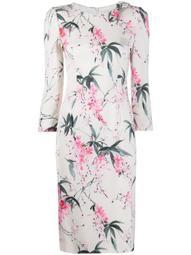 Jenna Wisteria-print midi dress