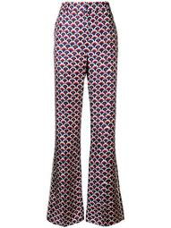 scalloped logo print trousers