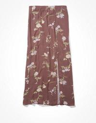 AE High-Waisted Printed Slip Midi Skirt