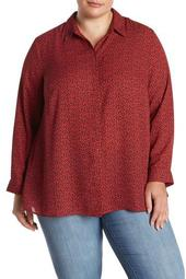 Long Sleeve Collared Shirt (Plus Size)