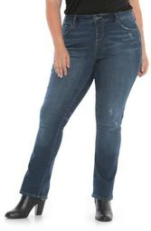 High Waisted Bootcut Jeans (Plus Size)