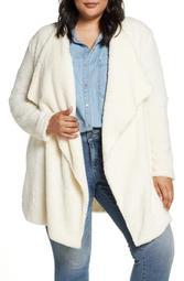 Teddy Bear Faux Fur Jacket (Plus Size)
