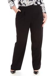 Plus Size High Rise Wide Leg Pants in Modern Stretch