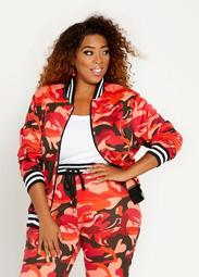 Red Camo Bomber Jacket