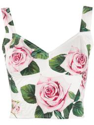 rose print cropped top