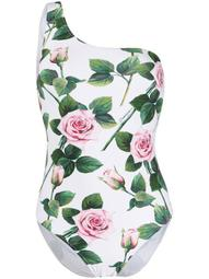 rose-print swimsuit