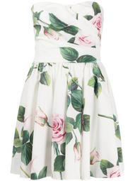 Tropical Rose print mini dress