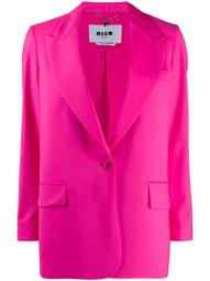 peak-lapel long-line blazer