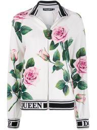 rose print track jacket