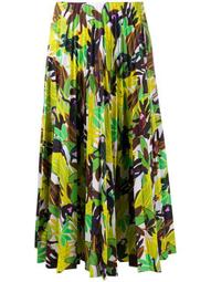 Monkey Forest pleated midi skirt