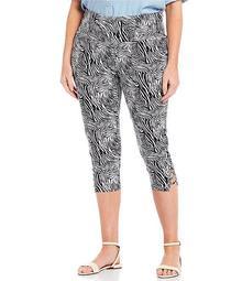 Plus Size Teri Love the Fit Zebra Print Capri Legging