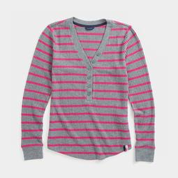 STRIPE THERMAL HENLEY