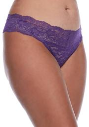 Plus Size Lace Thong - 16J33X