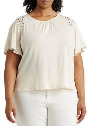 Plus Size Short Sleeve Knit Top