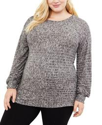 Plus Size Hacci-Knit Top