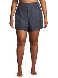 Free Tech Women's Plus Size Woven Short Swimsuit Cover up